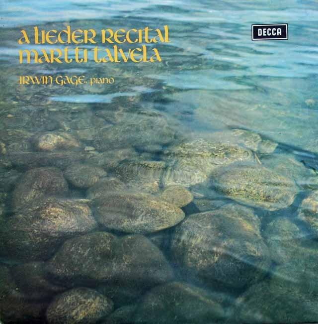 【オリジナル盤】 タルヴェラのシューマン/「12の歌曲」(作品35)ほか 英DECCA 3283 LP レコード