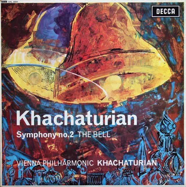 ハチャトゥリアンの自作自演/交響曲第2番「鐘」 英DECCA 3283 LP レコード