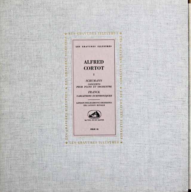 コルトーのシューマン&フランク/ピアノ協奏曲集 仏VSM 2915 LP レコード