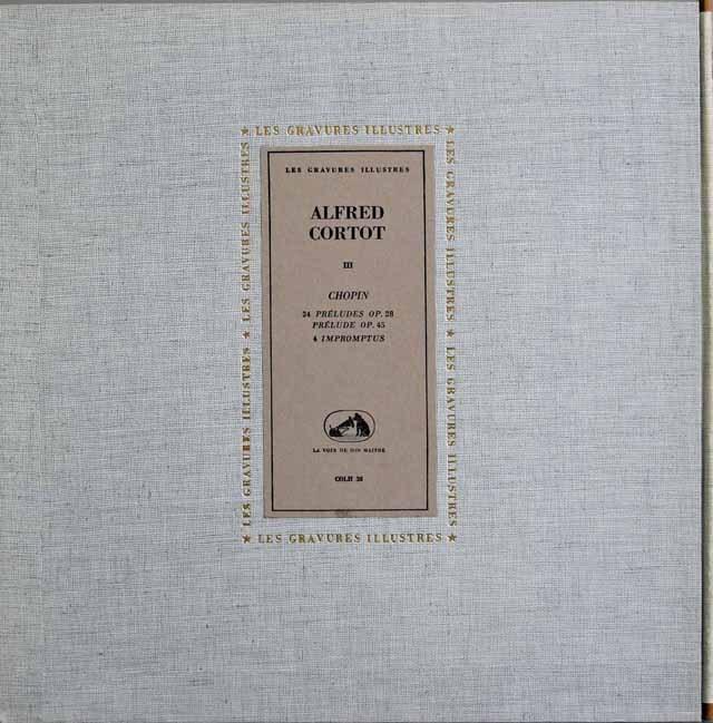 コルトーのショパン/「24の前奏曲集」ほか 仏VSM 2915 LP レコード