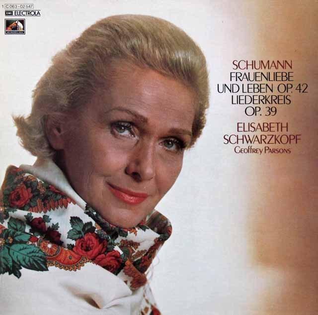 シュヴァルツコップのシューマン/「女の愛と生涯」ほか 独EMI 3283 LP レコード