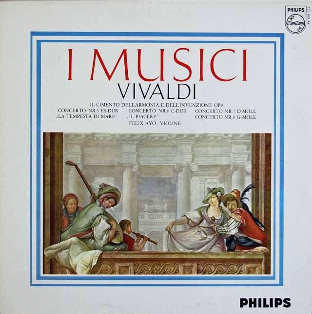 アーヨ&イ・ムジチのヴィヴァルディ/「和声と創意の試み」より 蘭PHILIPS 2915 LP レコード