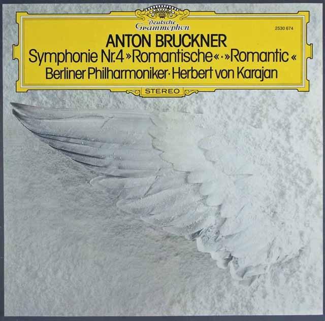 カラヤンのブルックナー/交響曲第4番「ロマンティック」 独DGG 3283 LP レコード