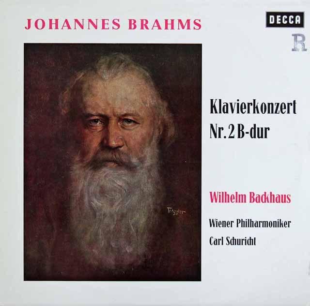 バックハウス&シューリヒトのブラームス/ピアノ協奏曲第2番 独DECCA 3283 LP レコード
