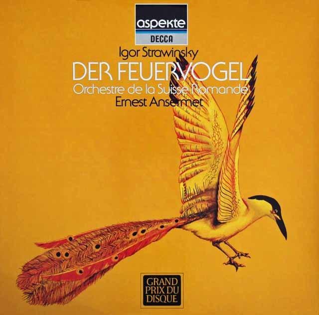 アンセルメのストラヴィンスキー/「火の鳥」 独DECCA 3283 LP レコード