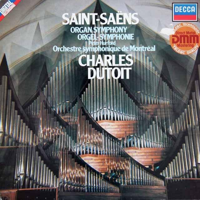 デュトワのサン=サーンス/交響曲第3番「オルガン付き」 独DECCA 2917 LP レコード
