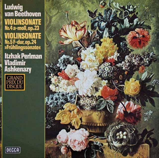 パールマン&アシュケナージのベートーヴェン/ヴァイオリンソナタ第4&5番 独DECCA 2917 LP レコード