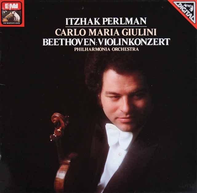 パールマン&ジュリーニのベートーヴェン/ヴァイオリン協奏曲 独EMI 2917 LP レコード