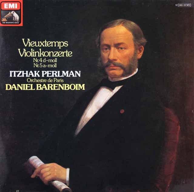 パールマン&バレンボイムのヴュータン/ヴァイオリン協奏曲第4&5番 独EMI 2917 LP レコード