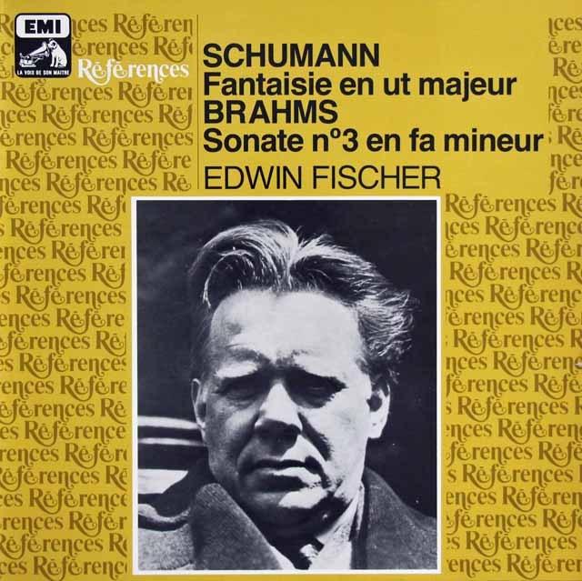 フィッシャーのシューマン&ブラームス/ピアノ曲集 仏EMI(VSM) 3283 LP レコード