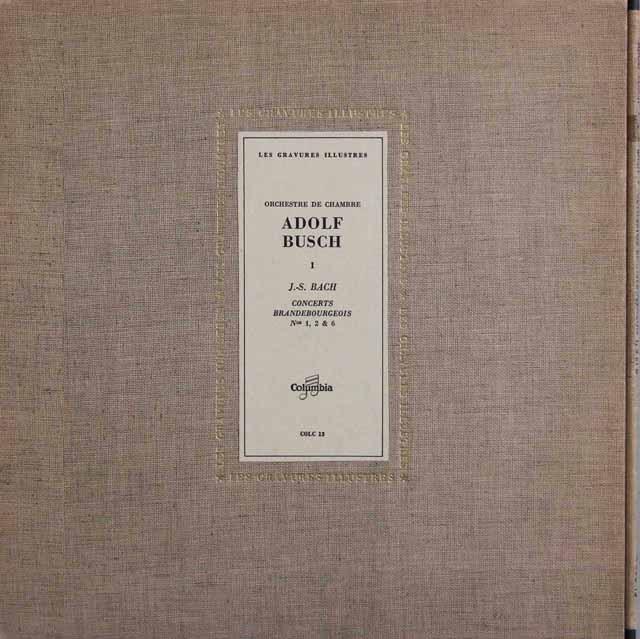 ブッシュらのバッハ/ブランデンブルク協奏曲第3~5番 仏Columbia 2917 LP レコード