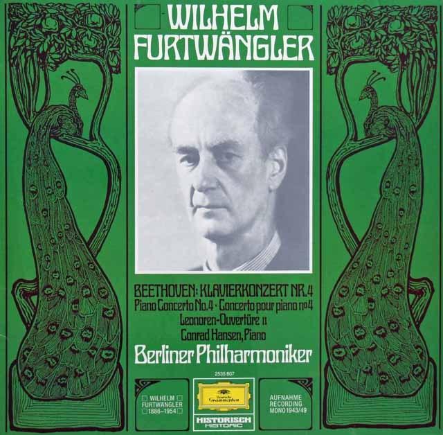 ハンゼン&フルトヴェングラーのベートーヴェン/ピアノ協奏曲第4番 独DGG 3283 LP レコード