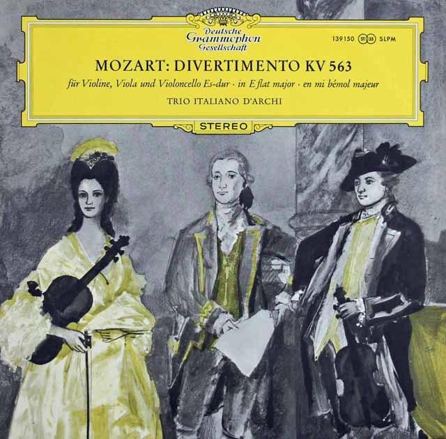 イタリア弦楽三重奏団のモーツァルト/ディヴェルティメント 独DGG 3283 LP レコード