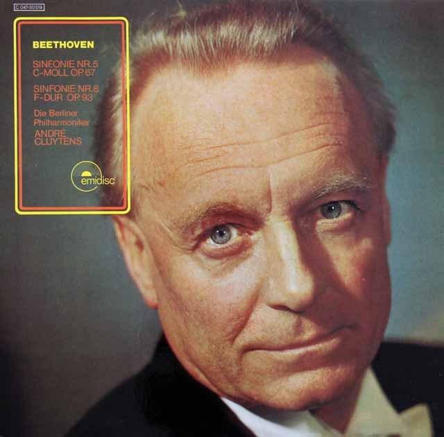 クリュイタンスのベートーヴェン/交響曲第5&8番 独emidisc 2919 LP レコード