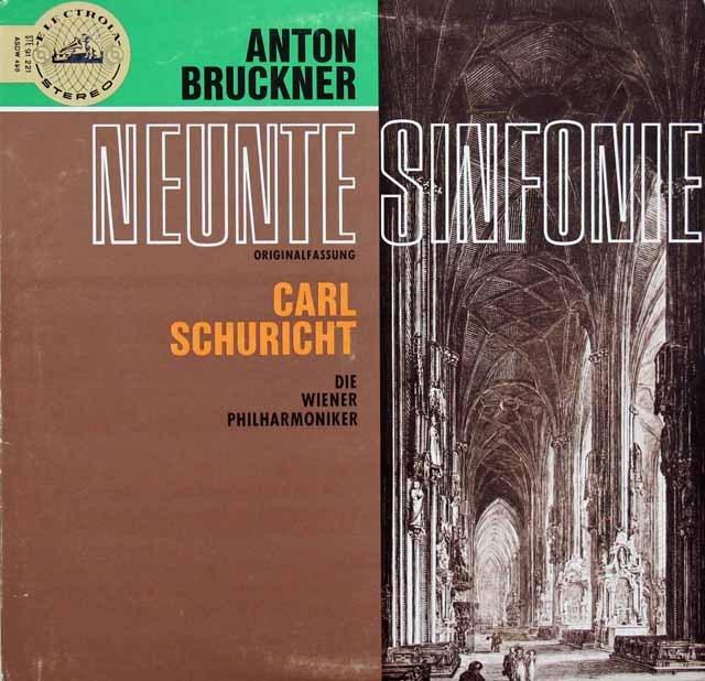 【独最初期盤】シューリヒトのブルックナー/交響曲第9番 独EMI 2919 LP レコード