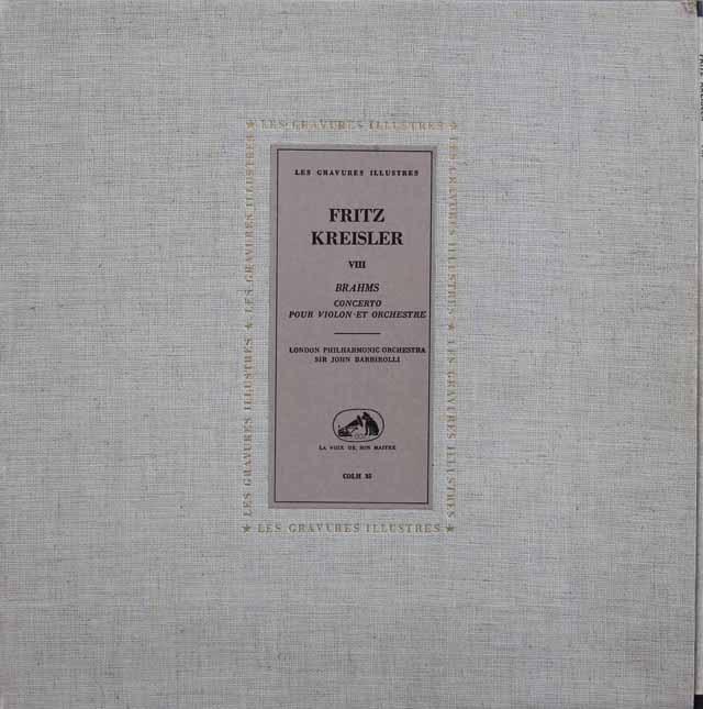 クライスラー&バルビローリのブラームス/ヴァイオリン協奏曲 仏EMI(VSM) 2919 LP レコード