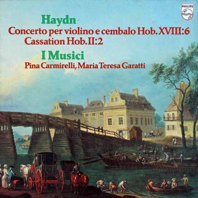 カルミネッリ&イ・ムジチのハイドン/ヴァイオリンとチェンバロのための協奏曲 蘭PHILIPS 2919 LP レコード
