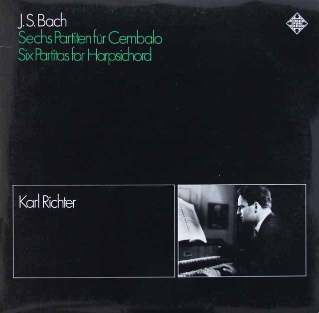 リヒターのバッハ/チェンバロのための6つのパルティータ   独TELEFUNKEN 2919 LP レコード