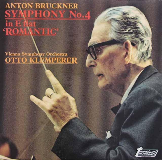 クレンペラーのブルックナー/交響曲第4番「ロマンティック」 英turnabout 3283 LP レコード