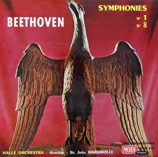 バルビローリのベートーヴェン/交響曲第1&8番  仏MODE 3283 LP レコード