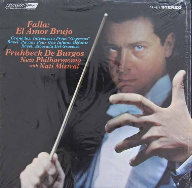 デ・ブルゴスのファリャ/「恋は魔術師」ほか 英LONDON 3283 LP レコード