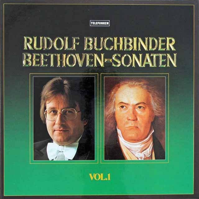 ブッフビンダーのベートーヴェン/ピアノ・ソナタ集 独TELEFUNKEN 3283 LP レコード