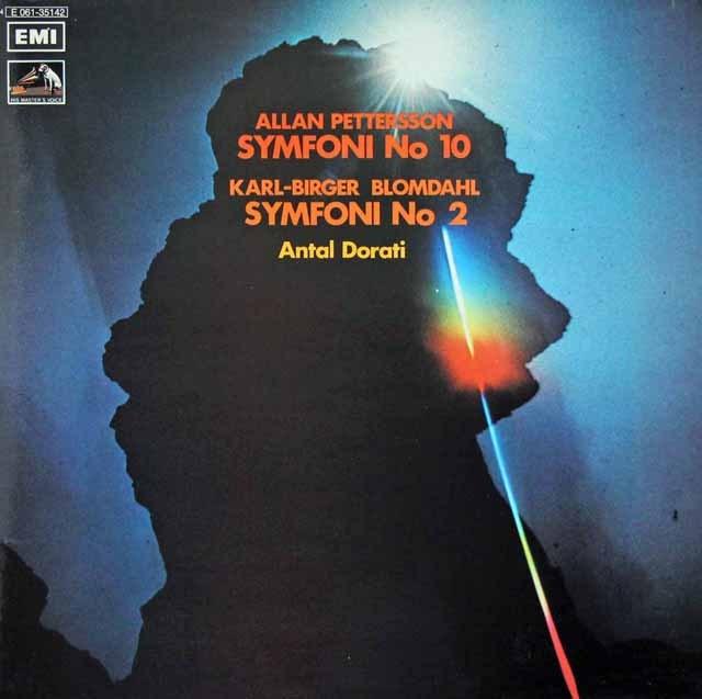 ドラティのペッタション&ブロムダール/交響曲集 スウェーデンEMI 2921 LP レコード