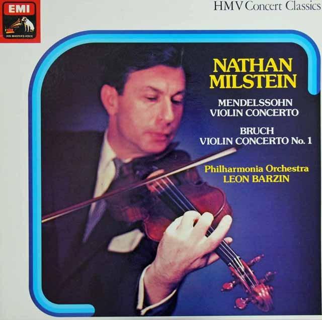 ミルシュタインのメンデルスゾーン&ブルッフ/ヴァイオリン協奏曲集 英EMI 2921 LP レコード