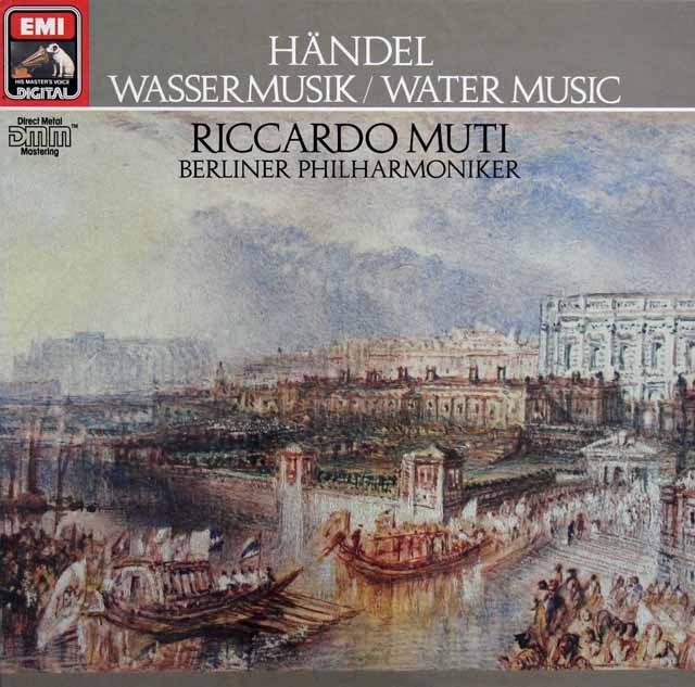 ムーティのヘンデル/水上の音楽 独EMI 2921 LP レコード