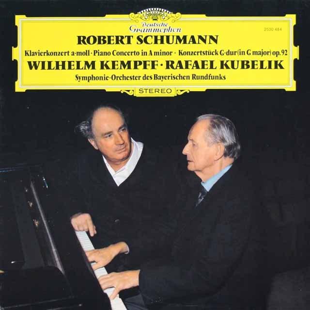 ケンプ&クーベリックのシューマン/ピアノ協奏曲ほか   独DGG 2923 LP レコード
