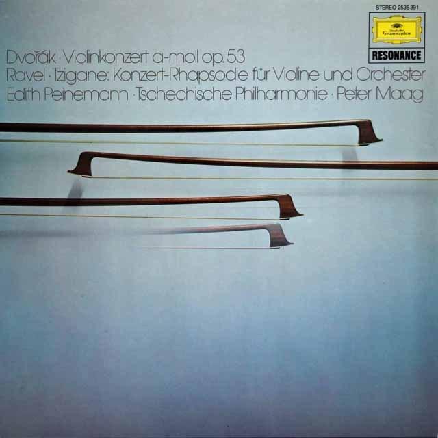 パイネマン&マークのドヴォルザーク/ヴァイオリン協奏曲ほか  独DGG 2923 LP レコード
