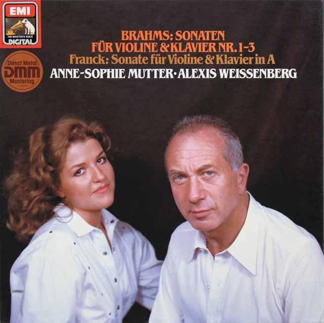 ムター&ワイセンベルクのブラームス/ヴァイオリンソナタ集  独EMI 2923 LP レコード