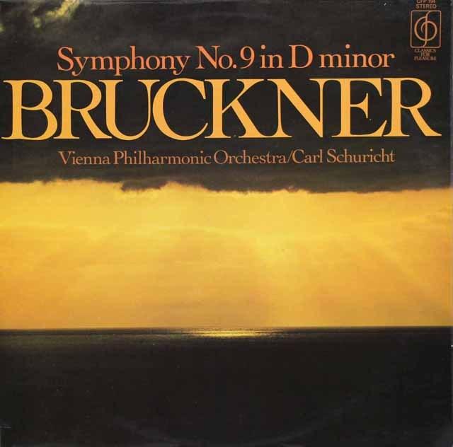 シューリヒトのブルックナー/交響曲第9番  英EMI 2923 LP レコード