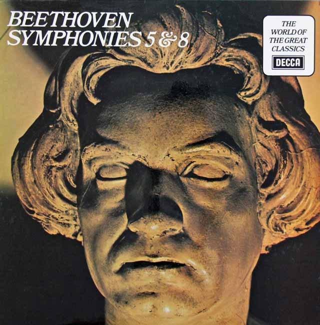 アンセルメのベートーヴェン/交響曲第5番「運命」&第8番 英DECCA 3282 LP レコード