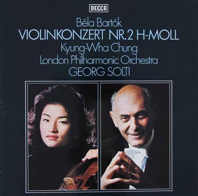 チョン&ショルティのバルトーク/ヴァイオリン協奏曲第2番 独DECCA 3282 LP レコード