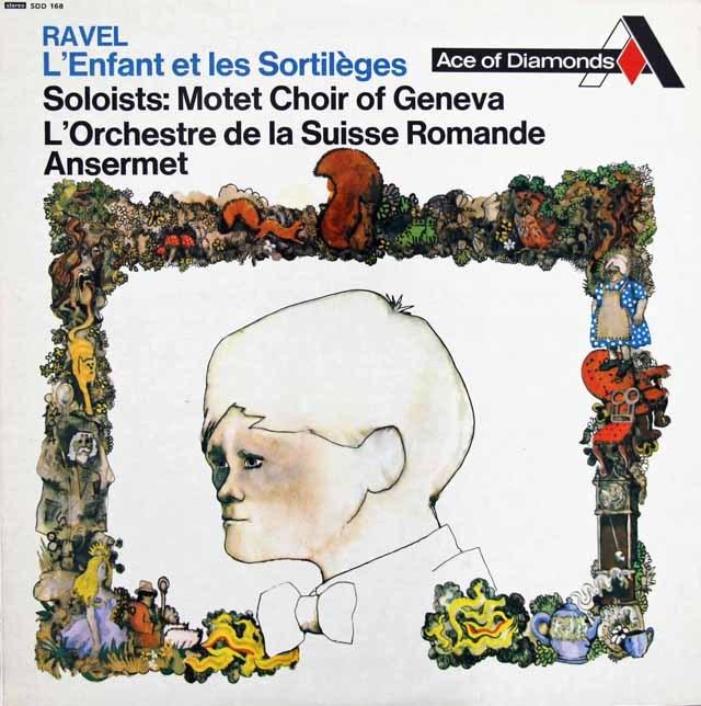 アンセルメのラヴェル/「子どもと魔法」 英DECCA 3282 LP レコード