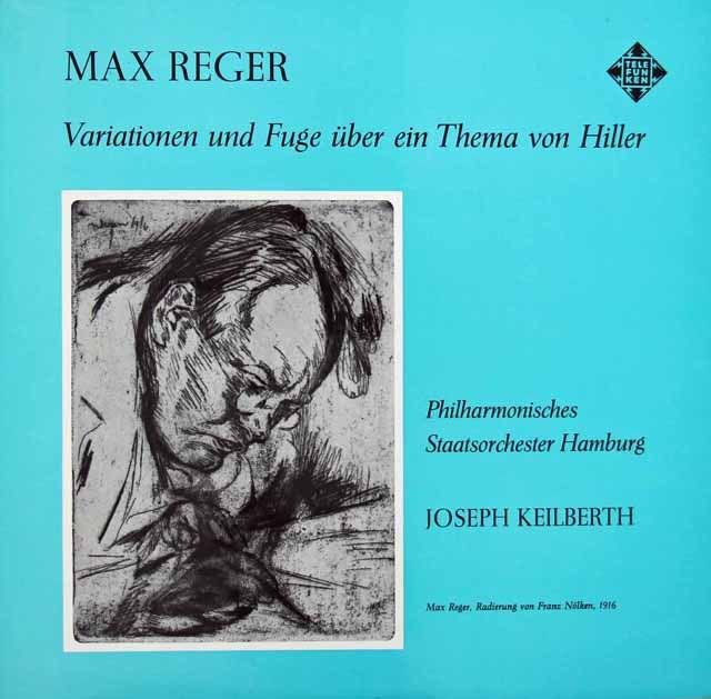 カイルベルトのレーガー/ヒラーの主題による変奏曲とフーガ 独TELEFUNKEN 2923 LP レコード