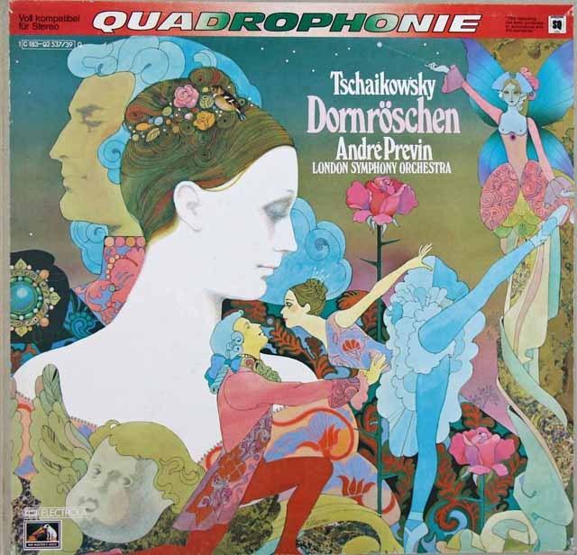 プレヴィンのチャイコフスキー/「眠りの森の美女」全曲 独EMI 3282 LP レコード