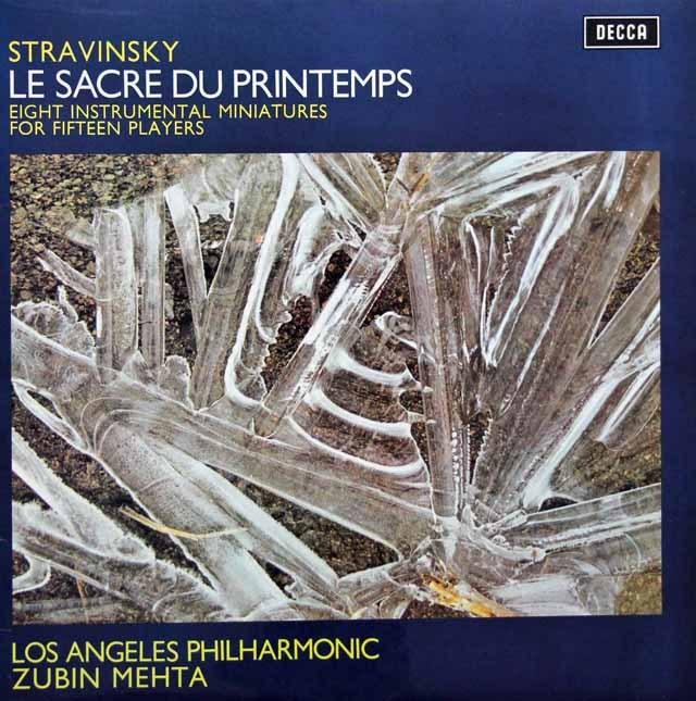 メータのストラヴィンスキー/「春の祭典」 英DECCA 3281 LP レコード
