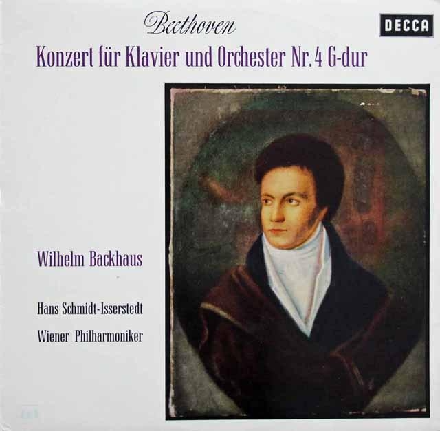 バックハウス&イッセルシュテットのベートーヴェン/ピアノ協奏曲第4番 独DECCA 2925 LP レコード