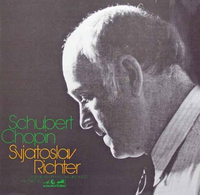 リヒテルのシューベルト&ショパン/作品集 独eurodisc 3281 LP レコード