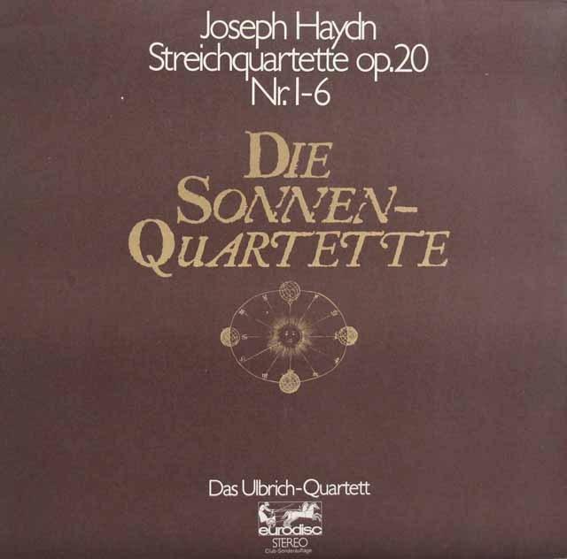 ウルブリヒ四重奏団のハイドン/「太陽四重奏曲」 独eurodisc 2925 LP レコード