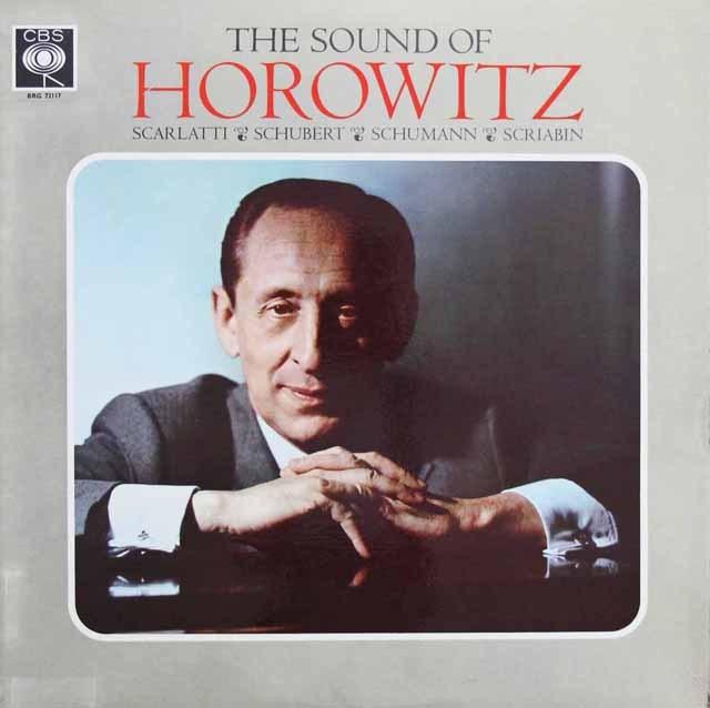 ホロヴィッツのシューマン/「子供の情景」ほか 英CBS 2925 LP レコード