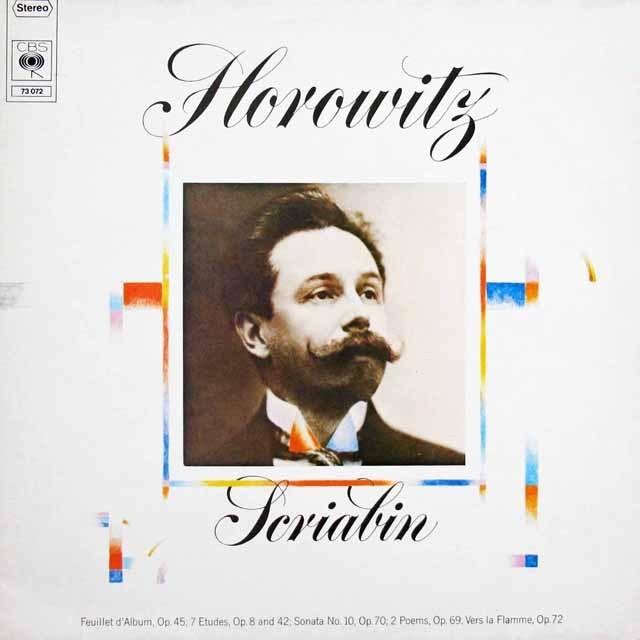 ホロヴィッツのスクリャービン/ピアノソナタ第10番ほか 独CBS 2925 LP レコード