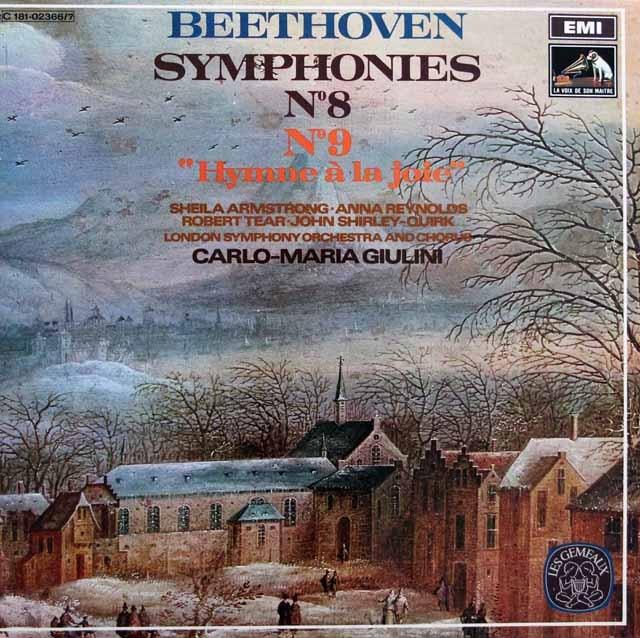ジュリーニのベートーヴェン/交響曲第8&9番「合唱付き」 仏EMI(VSM) 3281 LP レコード
