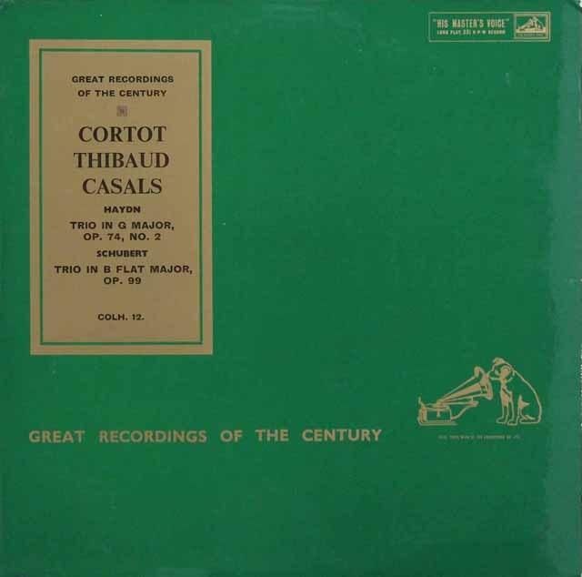コルトー、ティボー&カザルスのハイドン&シューベルト/三重奏曲集 英EMI 2925 LP レコード