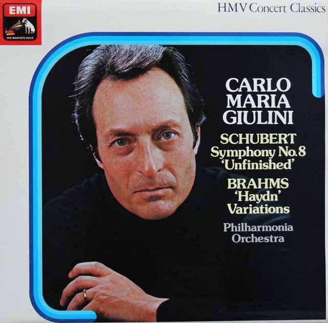 ジュリーニのシューベルト/交響曲第8番「未完成」ほか 英EMI 3281 LP レコード