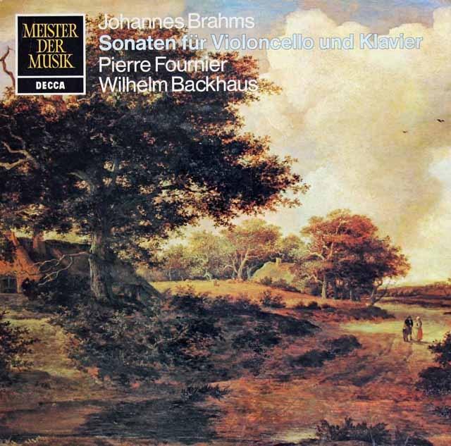 フルニエ&バックハウスのブラームス/チェロソナタ第1&2番 独DECCA 3281 LP レコード