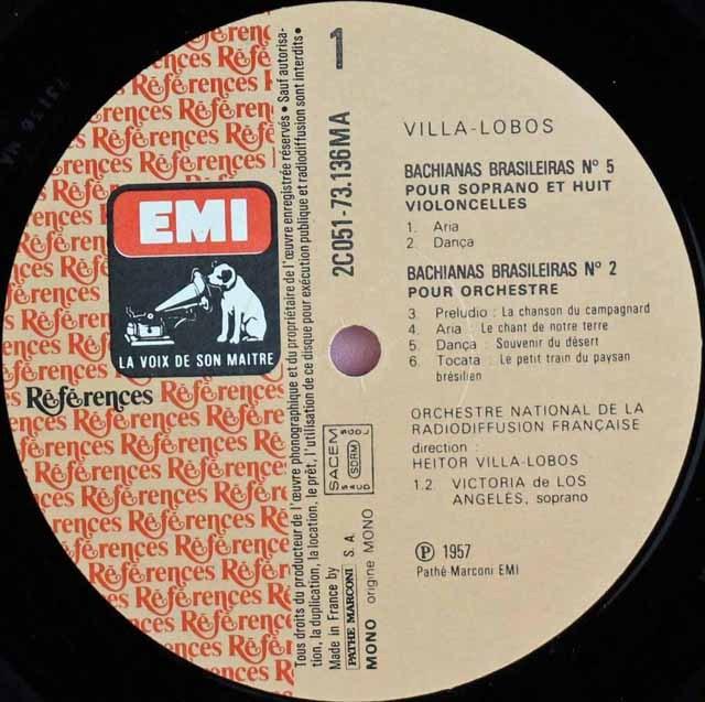 ヴィラ=ロボスの自作自演/「ブラジル風バッハ」 仏EMI(VSM) 3281 LP レコード