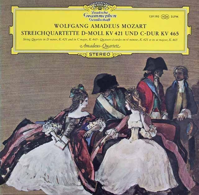 アマデウス四重奏団のモーツァルト/弦楽四重奏曲第19番 「不協和音」ほか 独DGG 3281 LP レコード